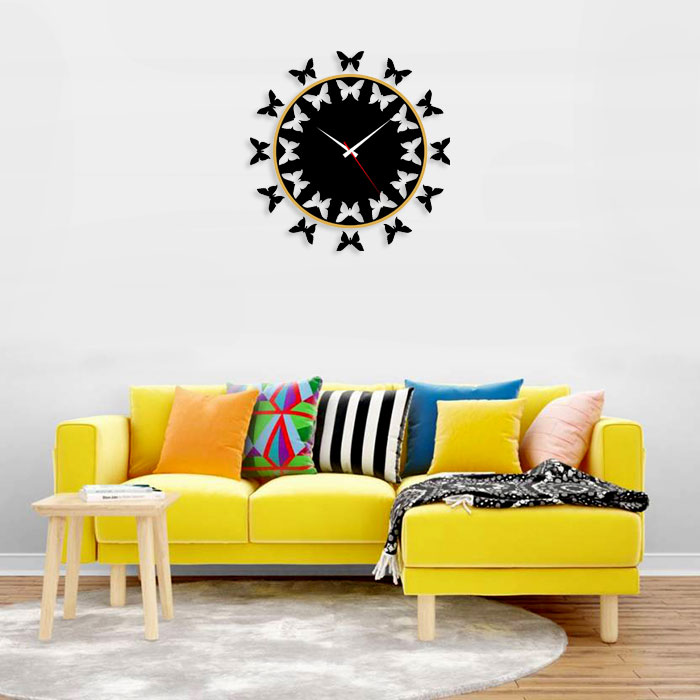 Unique Wall Clock Butterfly Unique Wall Clock Butterfly Signage N Print